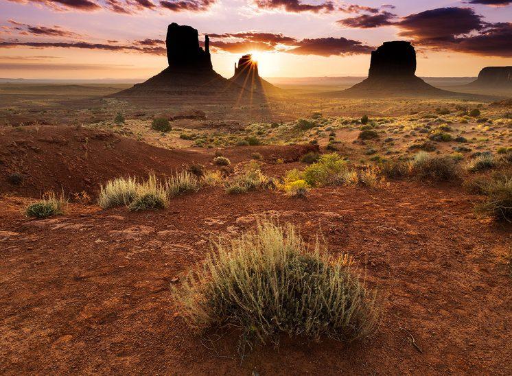 Sunrise à Monument Valley, National Parc, Etats Unis