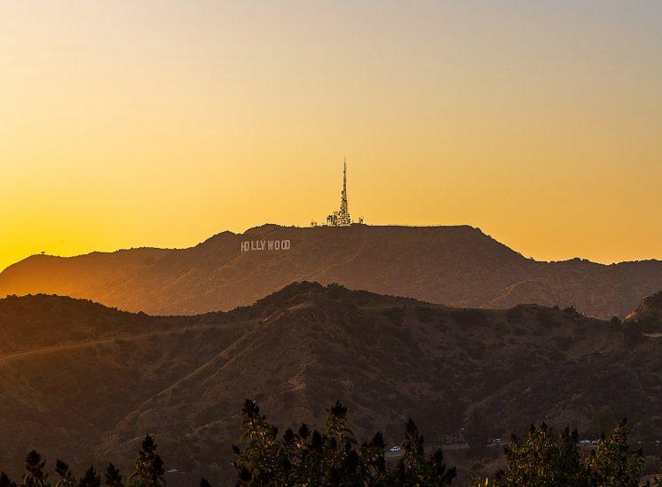 Sunset à Hollywood, Californie, Etats Unis