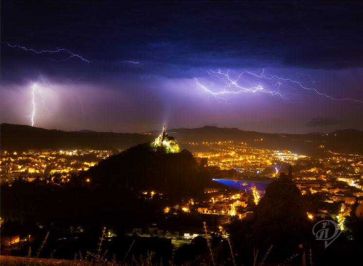 Orage sur le Puy-en-Velay